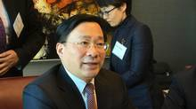 China sent Han Jun, Vice Minister of Financial and Economic Affairs, to Ottawa this week for discussions with senior bureaucrats about the prospect of negotiating its first free-trade deal with a North American country. (Robert Fife/The Globe and Mail)