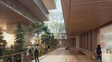 The sunken garden is seen here as part of the proposed design for a new Vancouver Art Gallery.