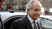 Financier Bernard Madoff arrives at Manhattan Federal court on March 12, 2009 in New York City. Madoff is scheduled to enter a guilty plea on 11 felony counts which under federal law can result in a sentence of about 150 years. (Stephen Chernin/Getty Images)