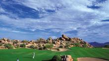 Desert scenery is as good as the golfing at Troon North near the Four Seasons Scottsdale resort.