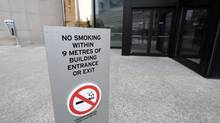 More building owners are marketing their condos as smoke-free to attract buyers and tenants. (Fred Lum/The Globe and Mail)