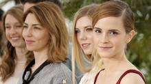 From right, actors Emma Watson, Claire Julien, director Sofia Coppola and actor Taissa Fariga pose for photographers during a photo call for the film The Bling Ring in Cannes on May 16, 2013. (François Mori/AP)