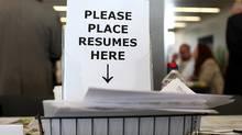 Job fair. (Justin Sullivan/Getty Images)