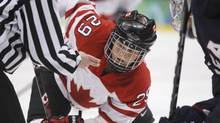 Canada' Marie-Philip Poulin is among the the host country's 23-player roster for the women's world hockey championship. (Gene J. Puskar/The Associated Press)