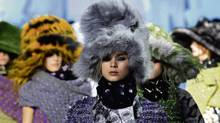 The Marc Jacobs Fall 2012 collection is modeled during Fashion Week, Monday, Feb. 13, 2012, in New York. (Louis Lanzano / AP/Louis Lanzano / AP)