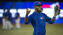 The Toronto Blue Jays' infielder Jose Reyes before the team's season opener against the Cleveland Indians at the Rogers Centre in Toronto, Ont. Tuesday, April 2, 2013. Reyes will begin a rehab assignment on Wednesday as he continues his recovery from an ankle injury. (Kevin Van Paassen/The Globe and Mail)