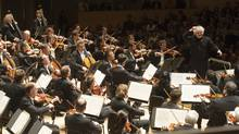 Sir Simon Rattle, Berlin Philharmonic, at Roy Thomson Hall. (Jag Gundu for the Roy Thomson Hall Archives)