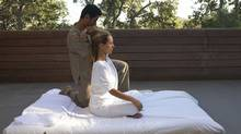 Massage at Mas de Torrent Spain. (Michele Curel)