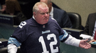 Mayor Rob Ford speaks to city council members in Toronto on Thursday, Nov. 14, 2013. THE CANADIAN PRESS/Nathan Denette