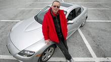 Author Eric Walters with his Mazda RX-7. (Kevin Van Paassen/Kevin Van Paassen/The Globe and Mail)
