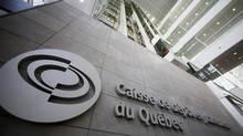 The Caisse de dépôt et placement du Québec building is seen in Montreal on Feb. 26, 2014. (Christinne Muschi/Reuters)