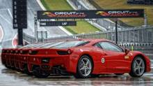 The 458 Italia is one of three cars you can drive at the Circuit of the Americas in Austin, Tex.