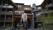 Real estate developer Ed Romanowski at his Solara Resort in Canmore, Alta. (Jeff McIntosh/STRJMC)