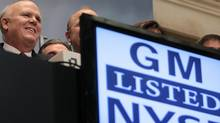GM CEO Dan Akerson rings the opening bell on the floor of the New York Stock Exchange (Spencer Platt/2010 Getty Images)