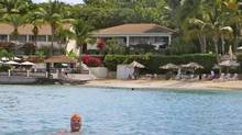 The writer sneak-swims into the Antiguan resort where he honeymooned in 1975. (Dale Taylor)