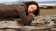 Annabel Lyon on the beach in Vancouver, October 15, 2009.