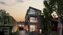 Currated Properties's Lanehouse condos will have 13 loft houses and three flats within a industrial building at 50 Bartlett Ave., near Dufferin and Bloor streets.