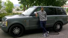 Jarod Joseph and his 2004 Range Rover.
