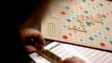 Author Margaret Atwood contemplates her next word as she participates in a Scrabble tournament to raise money for Performing Arts Lodges, which is an advocacy group for aging or ailing arts professionals. (Simon Hayter/The Globe and Mail)