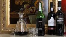 Various bottles of Port shot on location for the Christmas spread (Deborah Baic/The Globe and Mail)