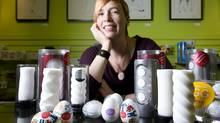 Sarah Forbes-Roberts co-founder of Come as You Are sex shop says sex toys for men have come along way over the past five years. (Kevin Van Paassen/The Globe and Mail)
