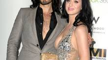 Russell Brand and Katy Perry at the 2010 EMI Grammy party. (Michael Buckner/Getty Images)