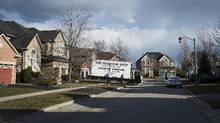 A truck delivers furniture in the Toronto suburb of Oakville, Ontario, Canada, March 8, 2017. (AARON VINCENT ELKAIM/NYT)