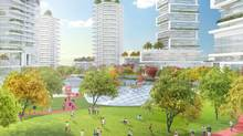Oakridge project. Elevated Commons Looking North. (Brook Pooni Associates)