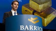 Aaron Regent, President and Chief Executive Officer of the Barrick Gold Corp., speaks at the company's annual general meeting in Toronto Wednesday, April 27, 2011. (Darren Calabrese/THE CANADIAN PRESS/Darren Calabrese/THE CANADIAN PRESS)