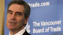 Liberal Party Leader Michael Ignatieff addresses the Vancouver Board of Trade during a luncheon on Oct. 13, 2009. (DARRYL DYCK)