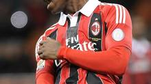 AC Milan's Mario Balotelli is pictured during the Italian Serie A soccer match against Udinese at the San Siro stadium in Milan February 3, 2013. (STRINGER/ITALY/Reuters)