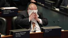Toronto Mayor Rob Ford attends a city council session on Nov. 14, 2013. (FERNANDO MORALES/THE GLOBE AND MAIL)