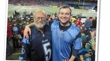 George Radwanski and his son, Adam, at the 2012 Grey Cup in Toronto. (Photo courtesy of the Radwanski family)