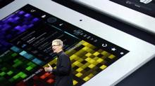 Apple CEO Tim Cook announces a number of product launches, upgrades and steep price discounts on Tuesday. (MARCIO JOSE SANCHEZ/AP)