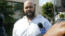 "Rap music mogul Marion ""Suge' Knight has been injured in an early morning shooting Sunday, Aug. 24, 2014, at a West Hollywood nightclub but is expected to survive. (Damian Dovarganes/Associated Press)"