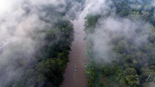 Rather than buying her husband a car for his 40th birthday, Amanda Blakley whisked him away to Peru for a small, four-day river cruise along the Peruvian Amazon aboard the Delfin I, seen above, one of three boats in the Delfin Amazon Cruises family.