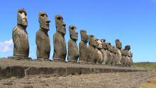 The moai of Easter Island are still a mystery – some say the giant stones were rolled on trees, while others say the moved themselves through the power of mana. (JUDITH RITTER)