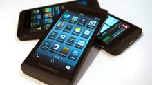 This Tuesday, Feb. 5, 2013, shows the Blackberry Z10 in Toronto. (Frank Gunn/THE CANADIAN PRESS)