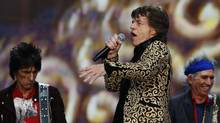 Ronnie Wood, Mick Jagger and Keith Richards of the Rolling Stones perform at the British Summer Time Festival in Hyde Park in London July 6, 2013. (LUKE MACGREGOR/REUTERS)