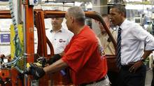 U.S. President Barack Obama tours Chrysler Group Toledo Supplier Park in Toledo, Ohio June 3, 2011. (Jim Young/Reuters/Jim Young/Reuters)