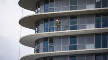Condominium construction in Vancouver reflects the drive 'toward higher density,' a PricewaterhouseCoopers officials said. (John Lehmann/The Globe and Mail)
