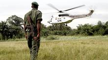 A Congolese soldier in the northeastern DRC in September, 2010. (AFP/Marc Hoffer/AFP/Getty Images)