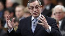 Treasury Board President Tony Clement speaks during Question Period in the House of Commons on Parliament Hill in Ottawa on Feb. 1, 2012. (Chris Wattie/Reuters/Chris Wattie/Reuters)