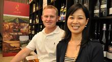 Jamie Paquin, with his wife, Nozomi Mihara, says the deep-rooted appreciation for cuisine among the local populace offers potential for selling premium Canadian wines in Japan. (Nick Jones)