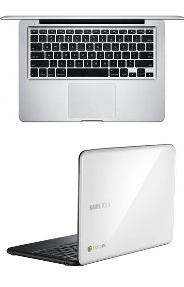 1. A contrast in laptop extremes: MacBook Pro vs. Chromebook The most popular story on Globe Technology this year pitted Apple's most powerful and attractive chunk of hardware, the MacBook Pro, against Google's Chromebook: a utilitarian web browser in laptop shape. Apple lovers and haters flooded into the comments, Google partisans complained of unfair comparison but most missed the point of Omar El Akkad's article: Consumer computing is changing and both of these devices chased the same vertically integrated content and services strategy with wildly different hardware models. It's not about which is better, it's about how both can win in their own way. (Samsung, Apple)