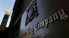 A bronze plaque identifies the Hudson's Bay Company flagship store in Toronto, in this January 26, 2006 file photo. (J.P. MOCZULSKI/REUTERS)