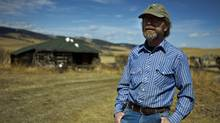 Rancher Hamish Kerfoot at his family's ranch near Cocohrane, Alta., Monday, April 23, 2012. (Jeff McIntosh/The Globe and Mail/Jeff McIntosh/The Globe and Mail)