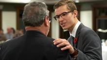 Sam Oosterhoff, the youngest-ever member of Ontario's legislature, emerged victorious Tuesday night in a nomination battle, securing his spot representing the Progressive Conservatives in next year's provincial election. (J.P. MOCZULSKI For The Globe and Mail)