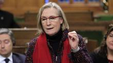 Carolyn Bennett, Minister of Indigenous and Northern Affairs stands in the House of Commons during question period on Parliament Hill in Ottawa on Friday, March 11, 2016. (Fred Chartrand/THE CANADIAN PRESS)