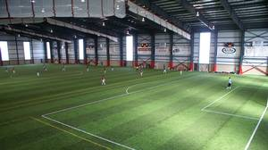 The indoor field at Players Paradise Sports Complex in Stoney Creek, Ont.